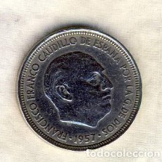 Monedas Franco: 5 PESETAS FRANCO.- 1957*62.- (2). Lote 194680700