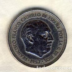 Monedas Franco: 5 PESETAS FRANCO.- 1957*62.- (3). Lote 194683947