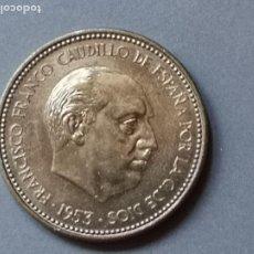 Monedas Franco: MAGNIFICA MONEDA DE 2,5 PESETAS DE 1953 ESTRELLA 70. PROOF. Lote 194695107
