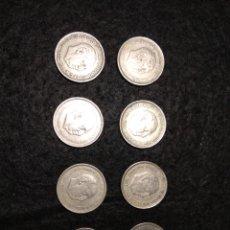 Monedas Franco: LOTE DE 8 MONEDAS DE 5 PESETAS DE FRANCO. Lote 194744398