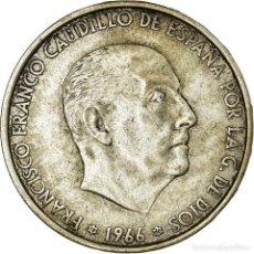 Monedas Franco: MONEDA, ESPAÑA, CAUDILLO AND REGENT, 100 PESETAS, 1966, MBC, PLATA, KM:797. Lote 194746757