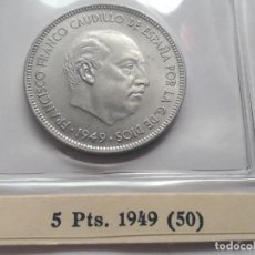 Monedas Franco: 5 PESETAS 1949 *50 S/C . Lote 194774228