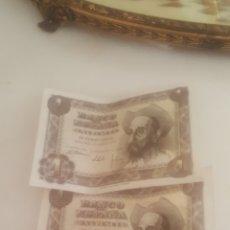Monedas Franco: DOS BILLETES DE UNA PESETA DE 1951 SIN USAR. Lote 194783168