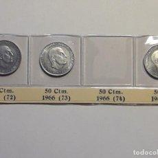 Monedas Franco: SERIE DE 50 CENTIMOS 1966 *72*73*75 S/C . Lote 194878158