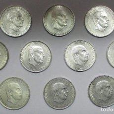 Monedas Franco: CONJUNTO DE 10 MONEDAS DE 100 PESETAS DE PLATA DEL ESTADO ESPAÑOL, VARIAS FECHAS. LOTE 2329. Lote 194912215