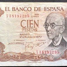 Monedas Franco: BILLETE 100 PESETAS 19790 MBC. Lote 194915036