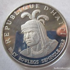 Monedas Franco: HAITI . 10 GOURDES DE PLATA ANTIGUOS . GRAN TAMAÑO . 47,05 GRAMOS . MUY RARA. Lote 194926523