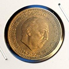 Monedas Franco: 1 PESETA 1947 *49 SC O PRÁCTICAMENTE SIN CIRCULAR. F. FRANCO. Lote 194977040