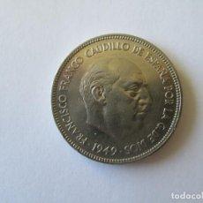 Monedas Franco: ESTADO ESPAÑOL * 5 PESETAS 1949*50 * SC. Lote 195009983