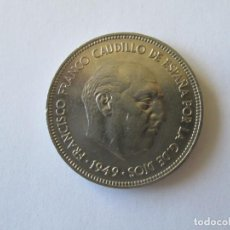 Monedas Franco: ESTADO ESPAÑOL * 5 PESETAS 1949*49 * S/C. Lote 195010065