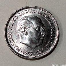 Monedas Franco: DIFÍCIL ( 25 PTS. 1957 -*70 , CANTO *I* UNA *I* GRANDE *I* LIBRE *I* ).. Lote 195023411