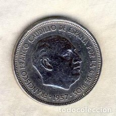Monedas Franco: 5 PESETAS FRANCO.- 1957*63.- (2). Lote 195037472