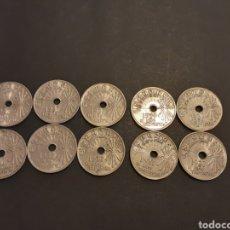 Monedas Franco: LOTE 10 MONEDAS 25 CENTIMOS 1937 ESPAÑA ESTADO ESPAÑOL EL AÑO TRIUNFAL. Lote 195045733