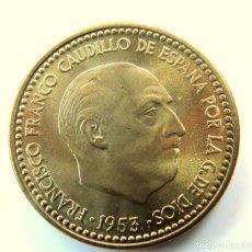 Monedas Franco: 1 PESETA 1953 *54 SC (DE CARTUCHO). Lote 195063238