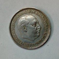 Monedas Franco: MONEDA DE 25 PESETAS FRANCO - PLUS ULTRA - 1957 *61 - ERROR COSPEL DESPLAZADO. Lote 195175833