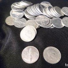 Monedas Franco: 50 CENTIMOS 1966. 46 PIEZAS. Lote 195177052