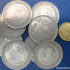 Monedas Franco: LOTE DE 8 MONEDAS DE 50 PESETAS DE 1957./ USADAS.. Lote 195246901
