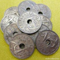 Monedas Franco: LOTE DE 10 MONEDAS DE 50 CÉNTIMOS DE 1949./ USADAS.. Lote 195247410
