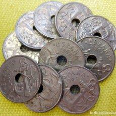 Monedas Franco: LOTE DE 10 MONEDAS DE 50 CÉNTIMOS DE 1963./ USADAS.. Lote 195247425