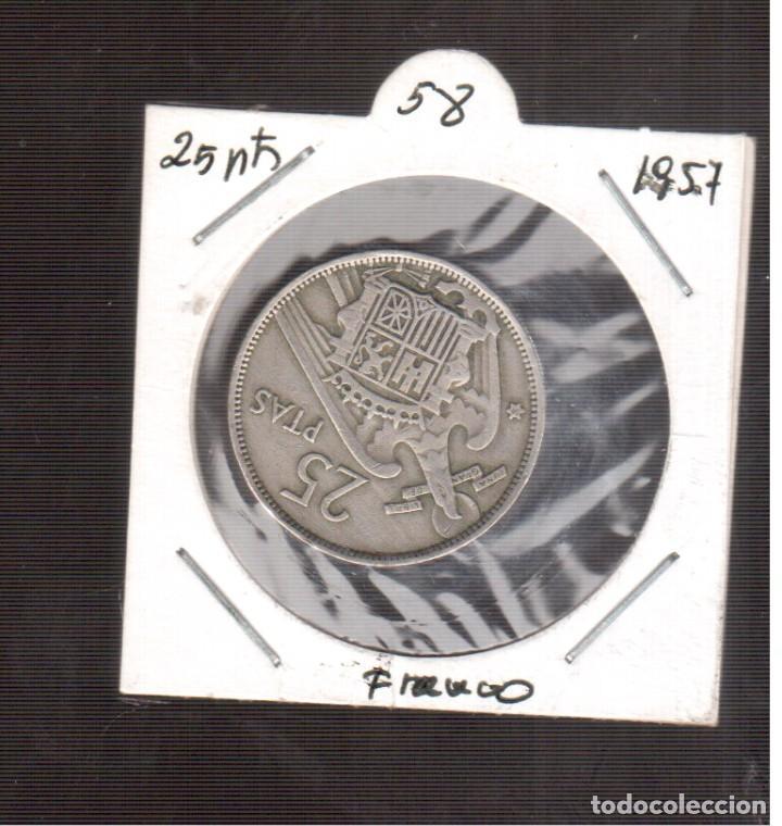 MONEDAS DE 25 PESETAS DE FRANCO 1957/58¡ LAS QUE VES (Numismática - España Modernas y Contemporáneas - Estado Español)