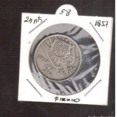Monedas Franco: MONEDAS DE 25 PESETAS DE FRANCO 1957/58¡ LAS QUE VES . Lote 195331228