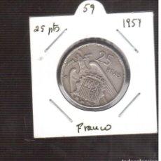 Monedas Franco: MONEDAS DE 25 PESETAS DE FRANCO 1957/59 LAS QUE VES . Lote 195331331