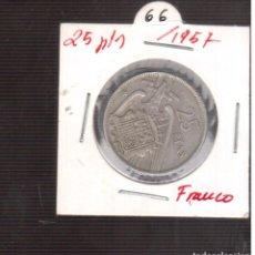 Monedas Franco: MONEDAS DE 25 PESETAS DE FRANCO 1957/66 LAS QUE VES . Lote 195331741