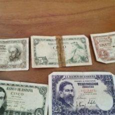 Monedas Franco: BILLETES ESPAÑOLES. Lote 195383127