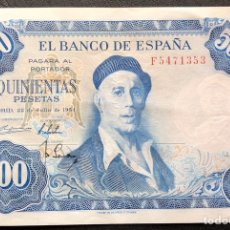 Monedas Franco: BILLETE 500 PESETAS 1954 EBC. Lote 195434960