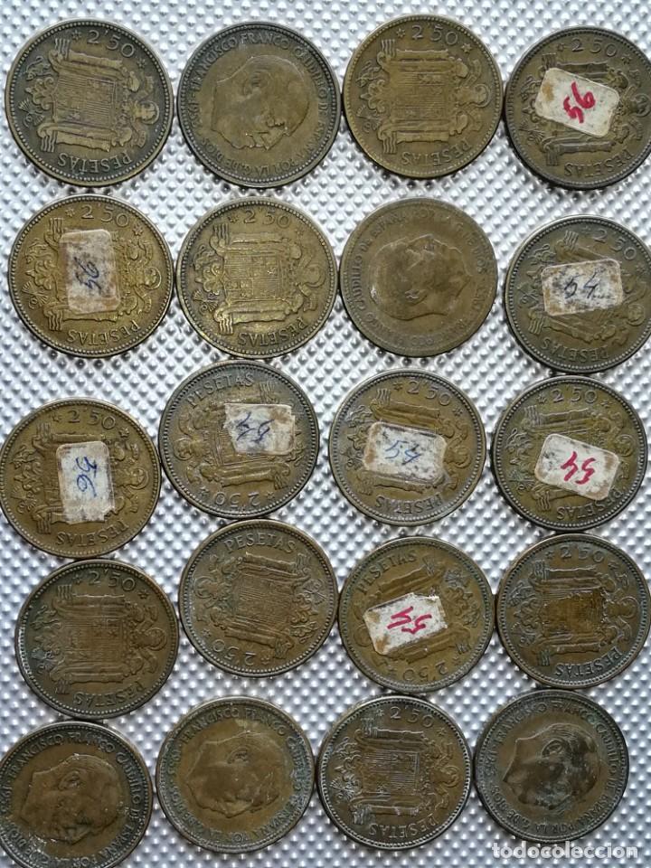 20 MONEDAS DE 2.5 PESETAS, ESTRELLAS ,54 Y 56 (Numismática - España Modernas y Contemporáneas - Estado Español)