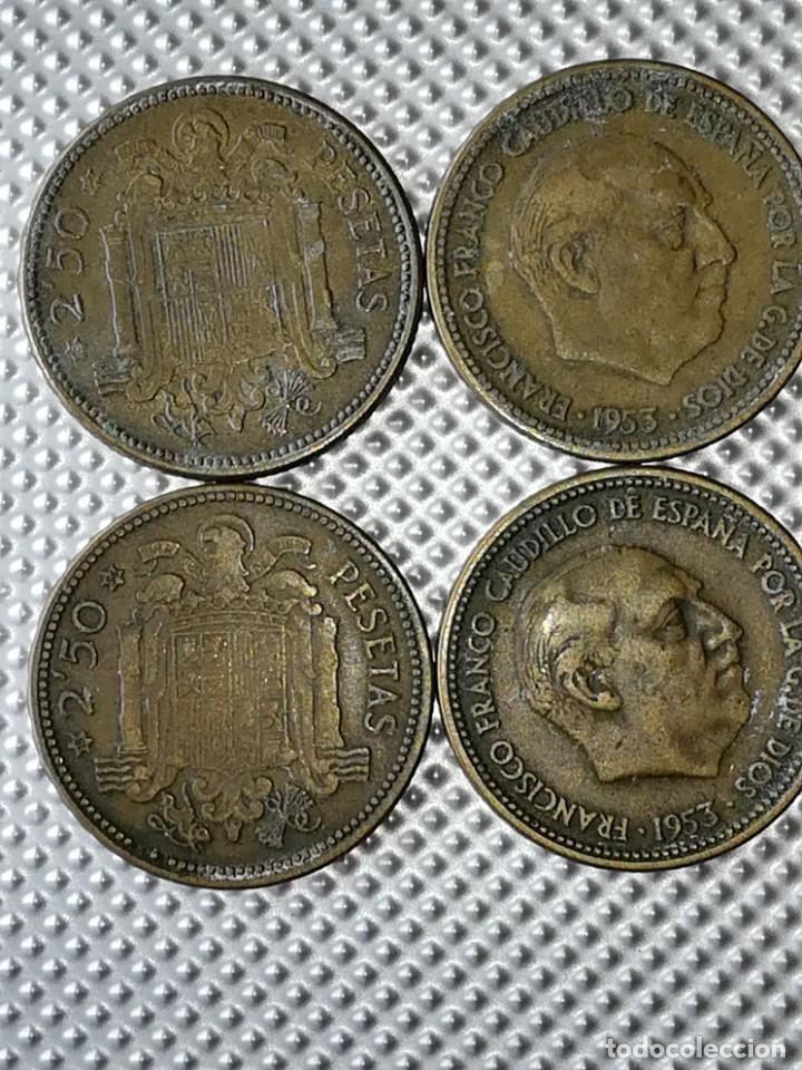 Monedas Franco: 20 MONEDAS DE 2.5 PESETAS, ESTRELLAS ,54 Y 56 - Foto 2 - 195483113