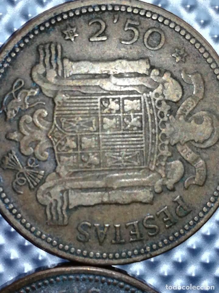 Monedas Franco: 20 MONEDAS DE 2.5 PESETAS, ESTRELLAS ,54 Y 56 - Foto 4 - 195483113