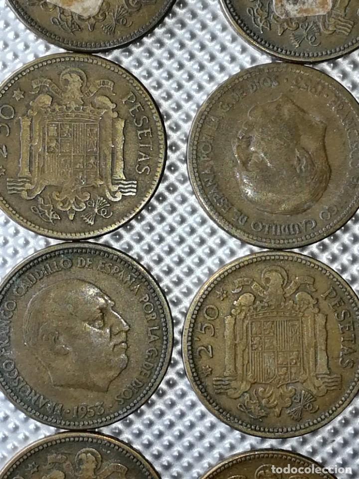 Monedas Franco: 20 MONEDAS DE 2.5 PESETAS, ESTRELLAS ,54 Y 56 - Foto 5 - 195483113