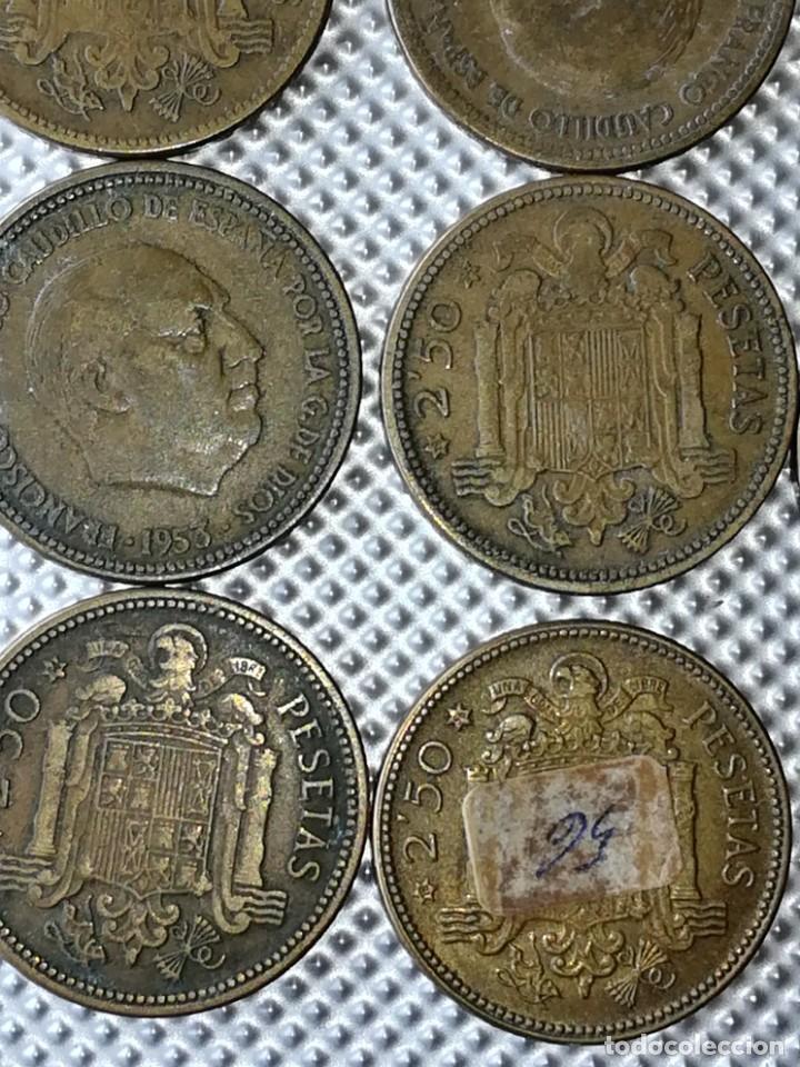 Monedas Franco: 20 MONEDAS DE 2.5 PESETAS, ESTRELLAS ,54 Y 56 - Foto 6 - 195483113