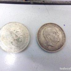 Monedas Franco: DOS MONEDAS PLATA 100 PESETAS 1966 ESTRELLAS 66 Y 67. Lote 195500598
