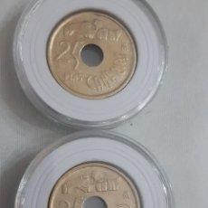 Monedas Franco: 25 PESETAS CANARIAS 2 MONEDAS. Lote 195504392