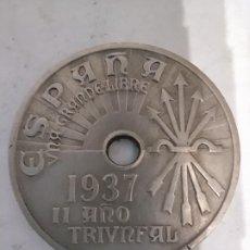 Monedas Franco: 25 CÉNTIMOS DE 1937 SEGUNDO AÑO TRIUNFAL. Lote 195524493