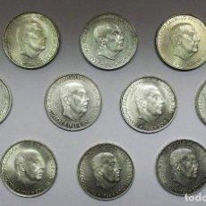 Monedas Franco: CONJUNTO DE 10 MONEDAS DE 100 PESETAS DE PLATA DEL ESTADO ESPAÑOL, VARIAS FECHAS. LOTE 2351. Lote 195534747