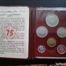 Monete Franco: PRUEBAS NUMISMATICAS DE 1975.EN SU CARTERA ORIGINAL.. .SIN CIRCULAR.. ..ES EL DE LAS FOTOS. Lote 196347202