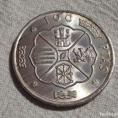 Monedas Franco: 100 PESETAS 1966 *66 - PLATA 800 - SC/BU. Lote 196571762