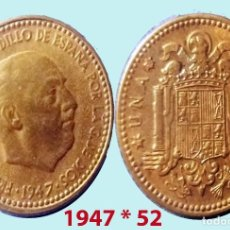 Monedas Franco: FRANCO DE 1 PESETA 1947 (*19-52) MADRID - SIN CIRCULAR. FDC.. Lote 197342206