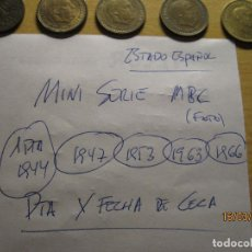 Monedas Franco: SERIE X CECA DE MONEDAS DE PESETA TODAS LAS RUBIAS DEL ESTADO. Lote 197449675
