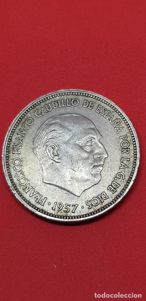 25 PESETAS 1957 (*69) EBC (Numismática - España Modernas y Contemporáneas - Estado Español)
