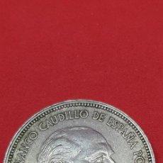 Monedas Franco: 25 PESETAS 1957 (*69) EBC. Lote 197850278
