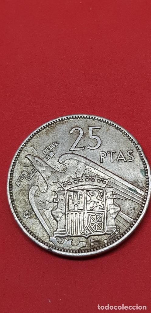 Monedas Franco: 25 PESETAS 1957 (*69) EBC - Foto 2 - 197850278