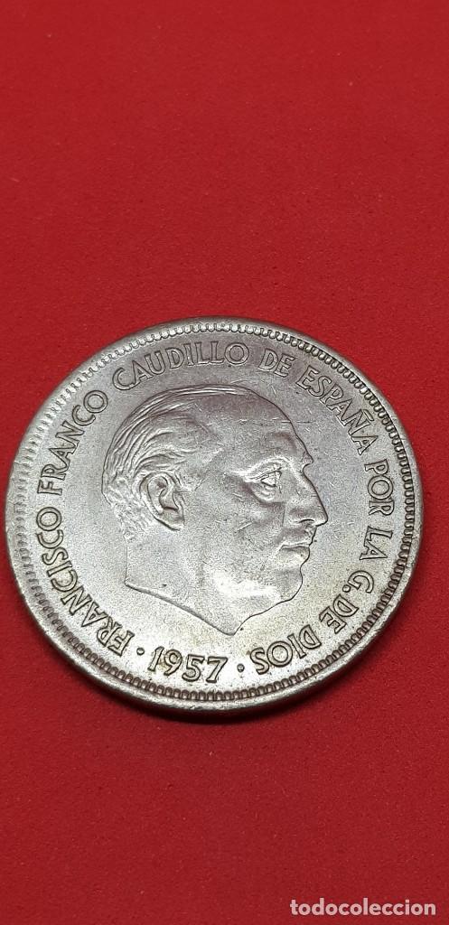 25 PESETAS 1957 (*70) EBC (Numismática - España Modernas y Contemporáneas - Estado Español)