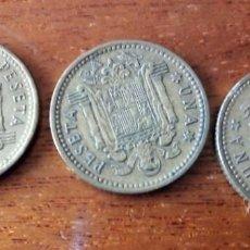 Monedas Franco: 1 PESETA 1.966 *75. 3 MONEDAS. Lote 197922117