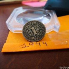 Monedas Franco: 1944 1 PESETA. Lote 197978558