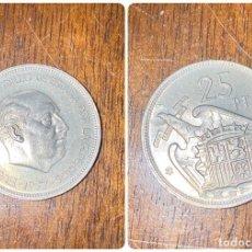 Monedas Franco: MONEDA. ESPAÑA. 25 PESETAS. FRANCISCO FRANCO. 1957. ESTRELLA *58*. CON PLUS. S/C. VER FOTOS. . Lote 198013842