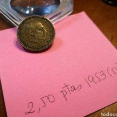 Monedas Franco: 1953(54) 2.50 PESETAS. Lote 198179892
